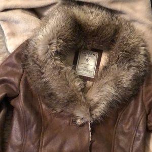 Vintage Guess Faux Shearling Coat
